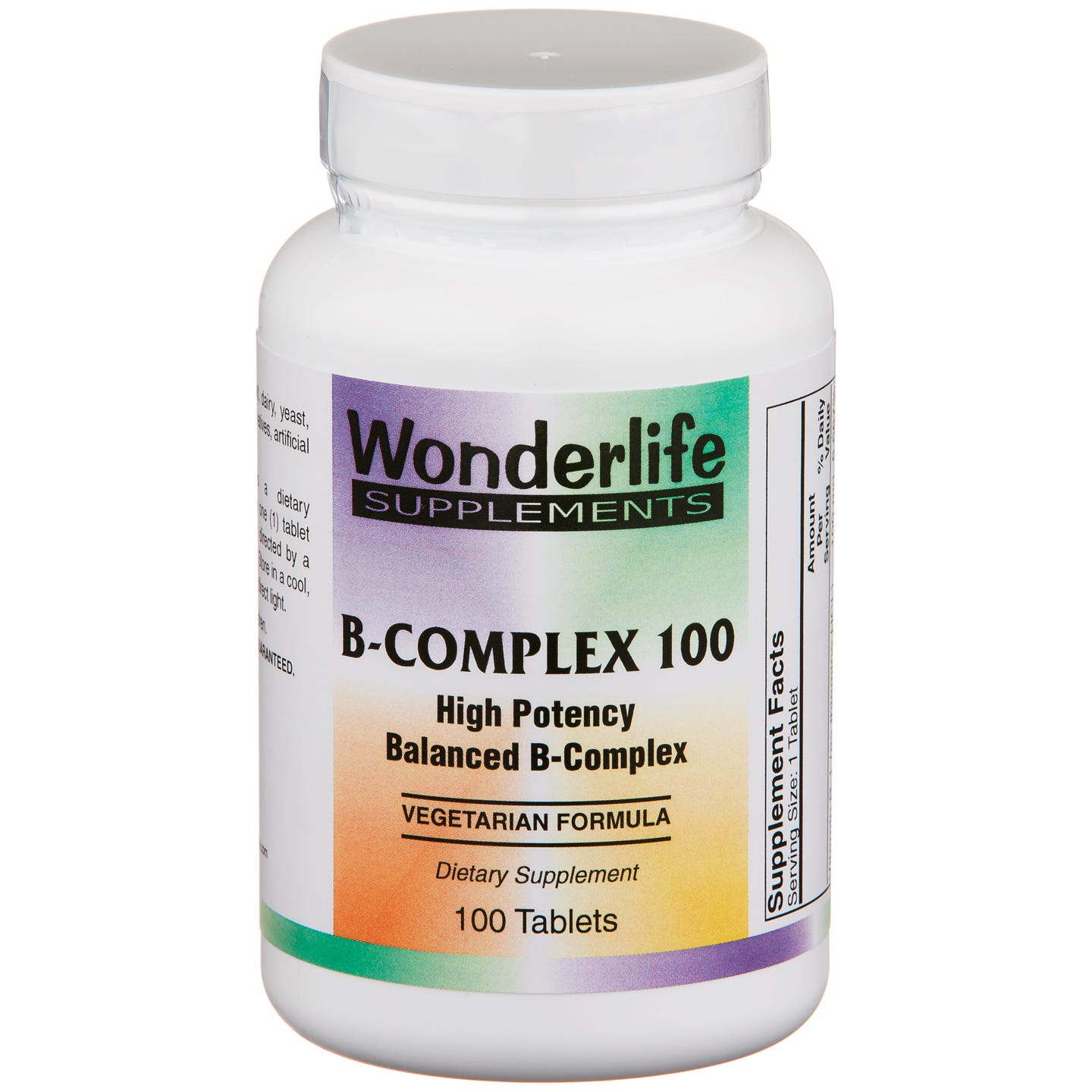 Vitamin B-Complex 100 (100 ct) - Wonderlife - Rapid Diet Weight Loss Products Shop