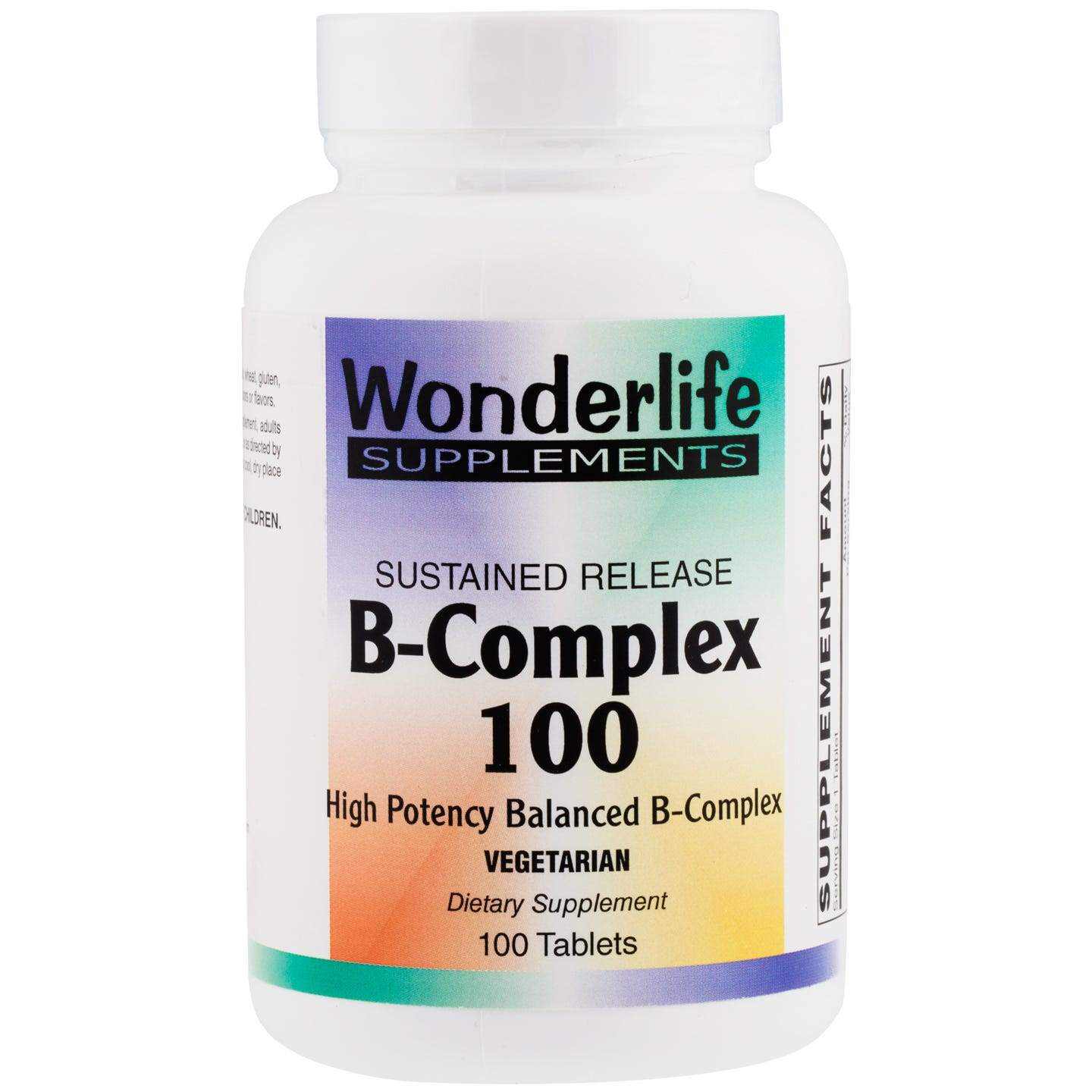 B-Complex 100, Sustained Release (100 Tablets), Wonderlife - Rapid Diet Weight Loss Products Shop