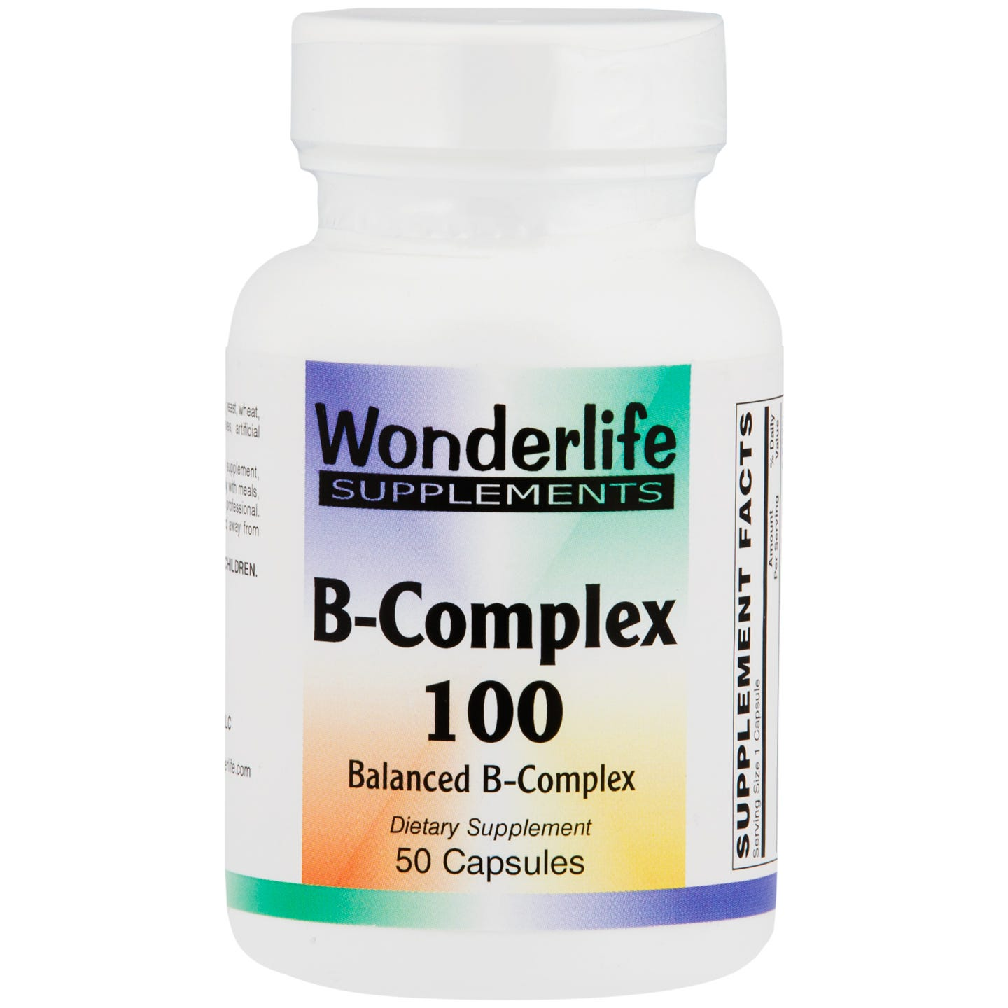 B-Complex 100 (50 Capsules), Wonderlife - Rapid Diet Weight Loss Products Shop