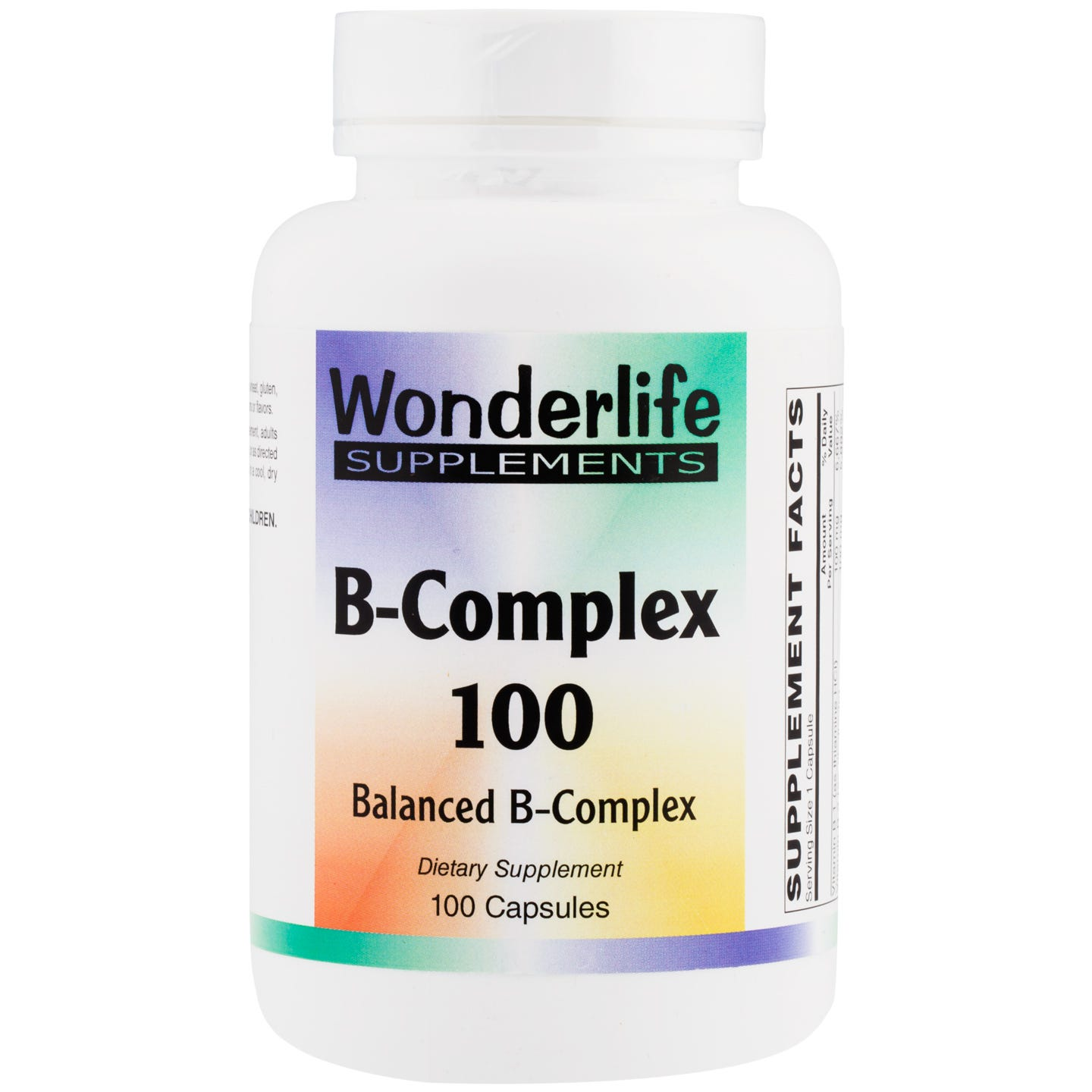 B-Complex 100 (100 Capsules), Wonderlife - Rapid Diet Weight Loss Products Shop