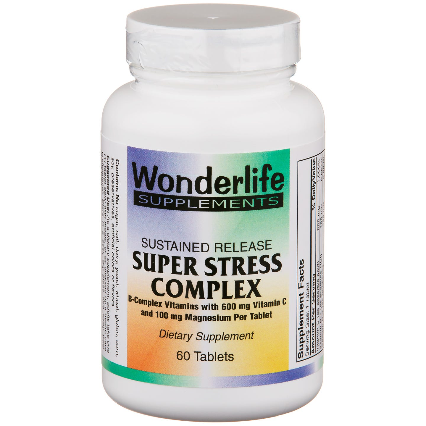 Sustained Release Super Stress Complex (60 ct) - Wonderlife - Rapid Diet Weight Loss Products Shop