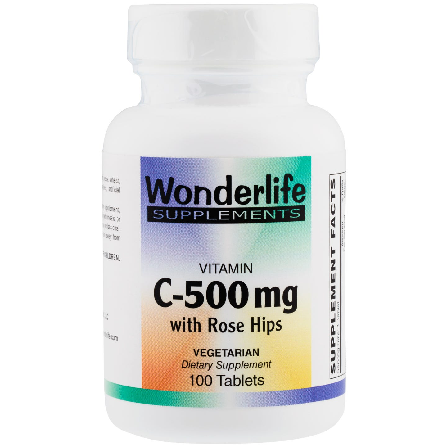 Vitamin C, 500 mg Rose Hips (100 Tablets), Wonderlife - Rapid Diet Weight Loss Products Shop