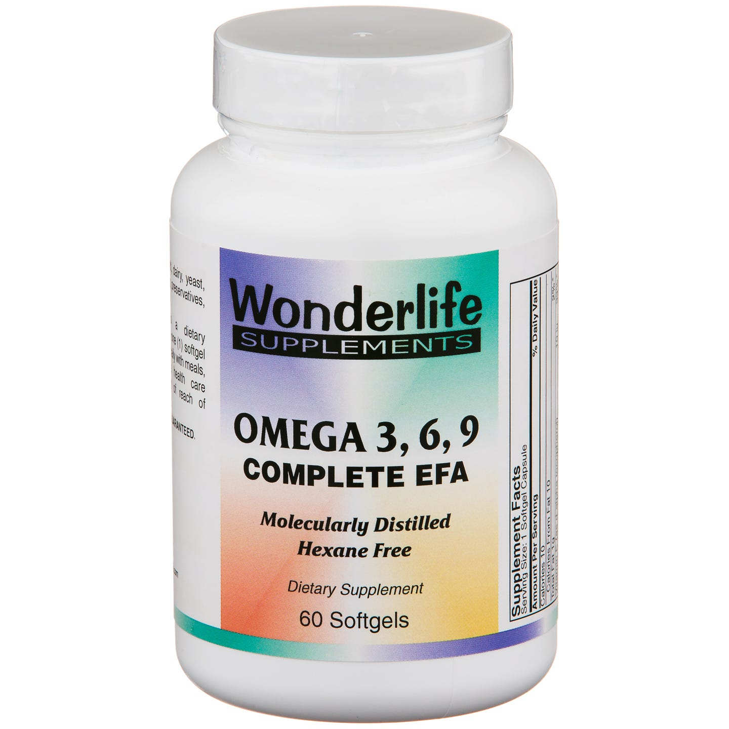 Omega 3 6 9 Complete EFA (60 ct) - Wonderlife - Rapid Diet Weight Loss Products Shop