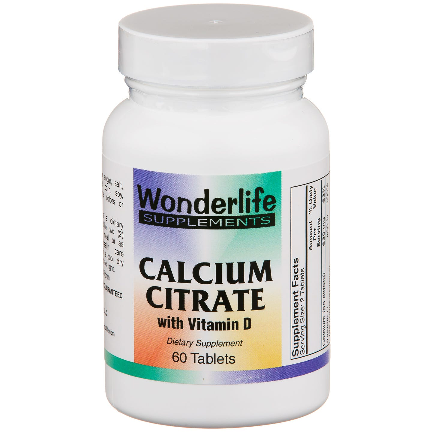Calcium Citrate & Vitamin D (60 ct) - Wonderlife - Rapid Diet Weight Loss Products Shop
