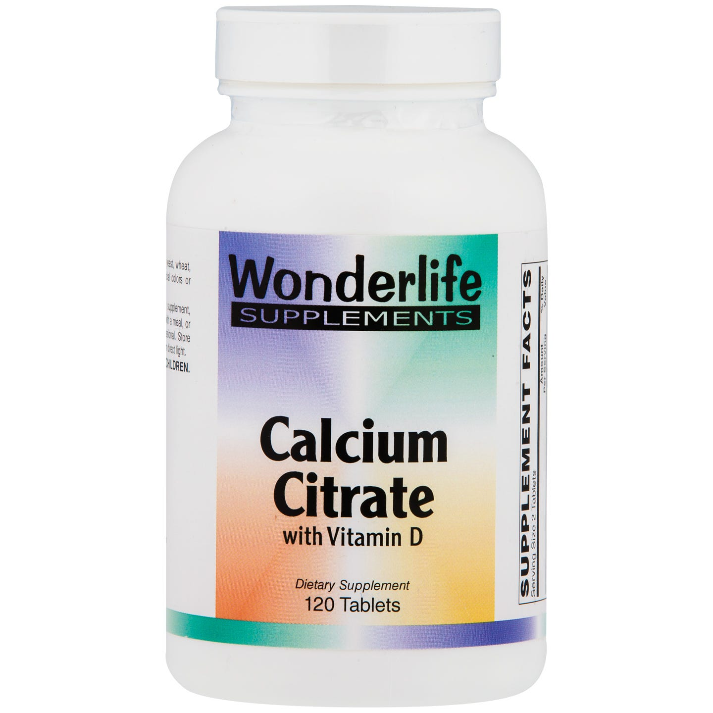 Calcium Citrate w/ Vitamin D Tablets (120 ct), Wonderlife - Rapid Diet Weight Loss Products Shop