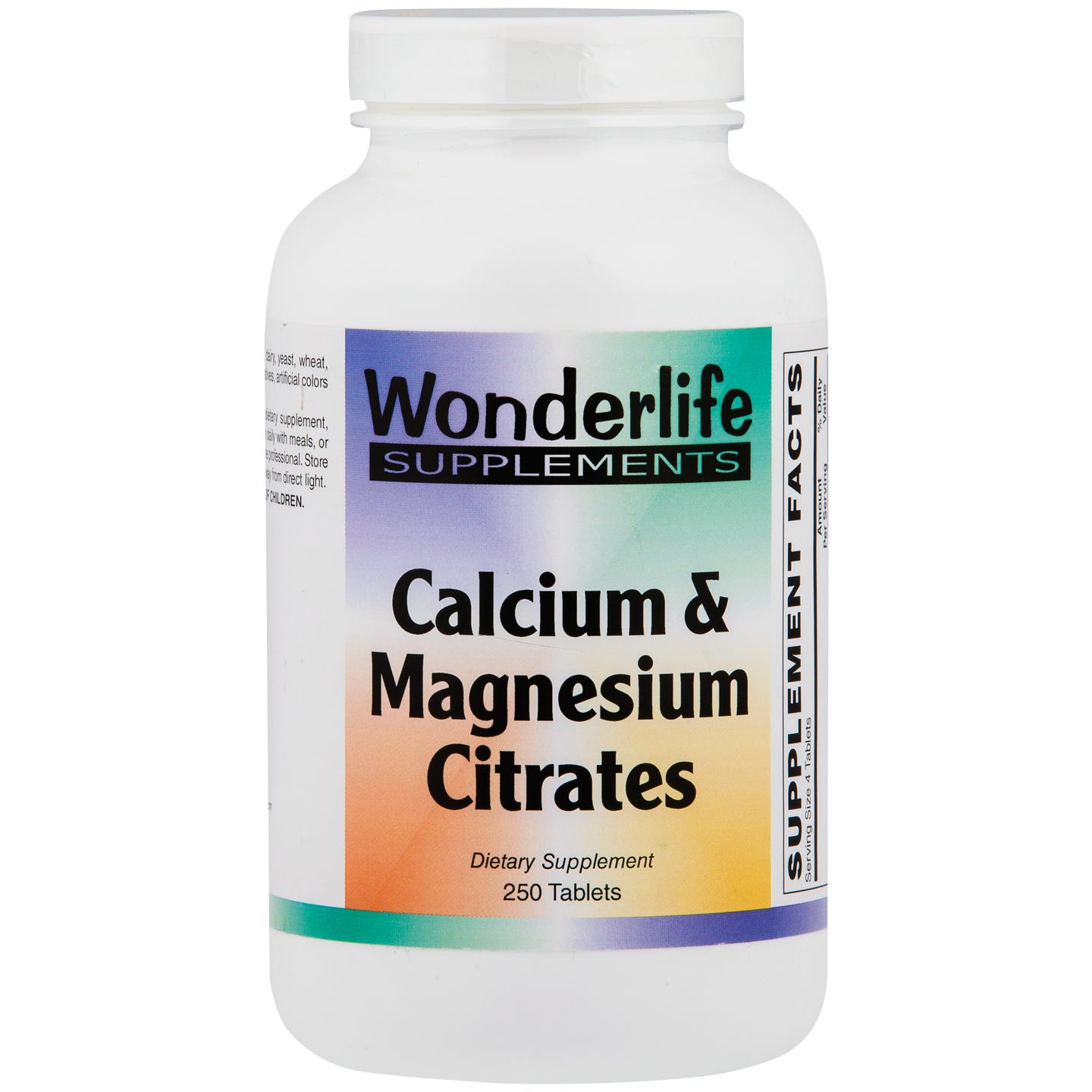 Calcium & Magnesium Citrates Tablets (250 ct), Wonderlife - Rapid Diet Weight Loss Products Shop
