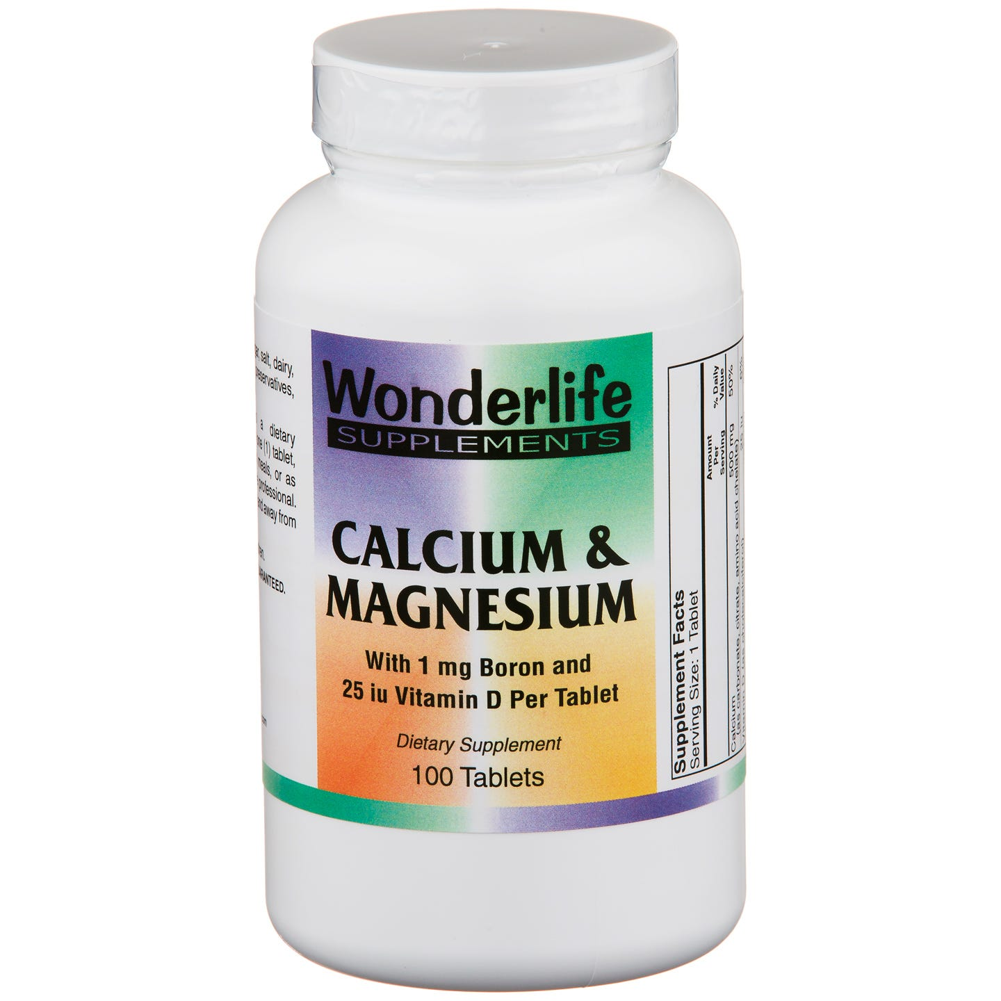 Calcium & Magnesium (100 ct) - Wonderlife - Rapid Diet Weight Loss Products Shop