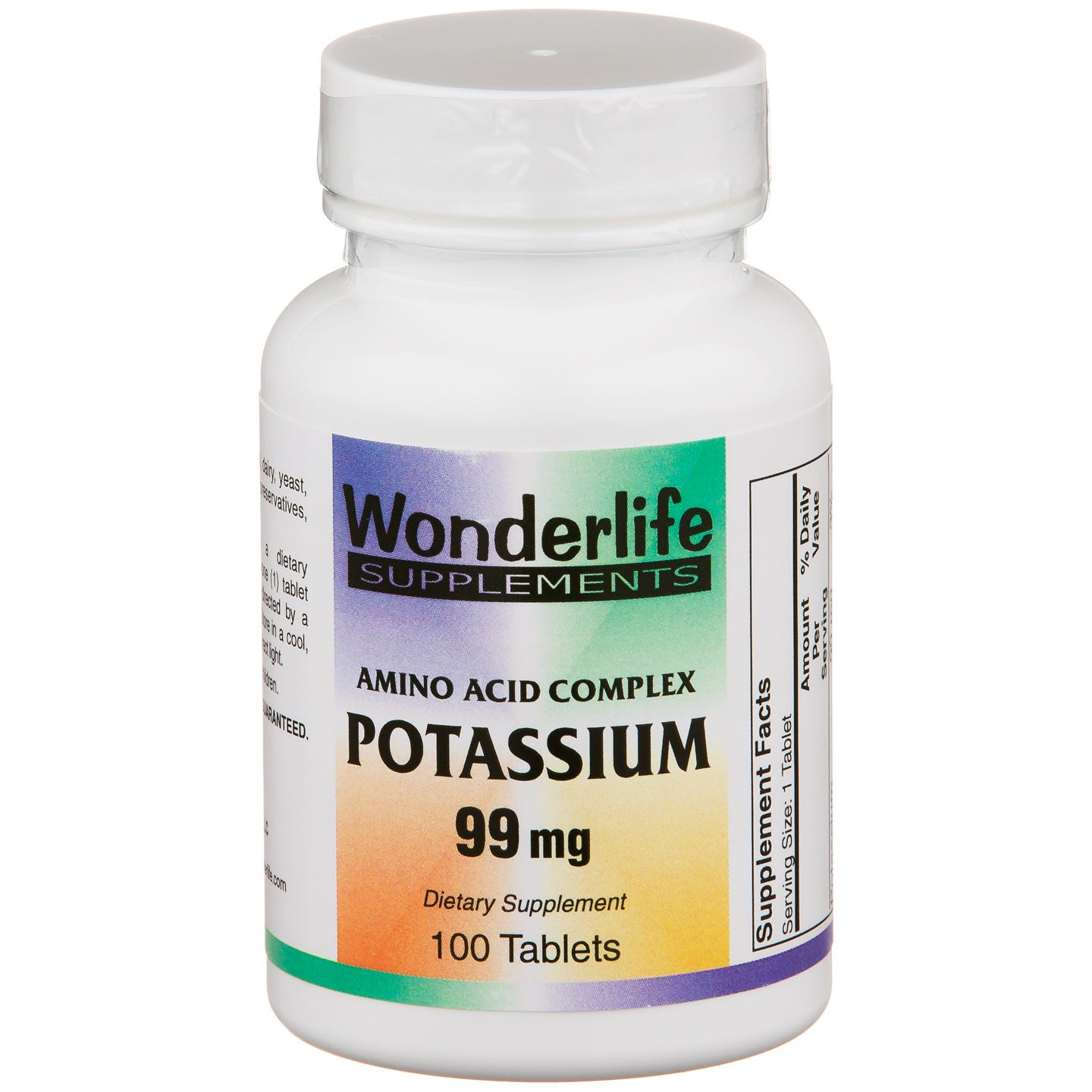Amino Acid Complex Potassium 99mg (100 ct) - Wonderlife - Rapid Diet Weight Loss Products Shop