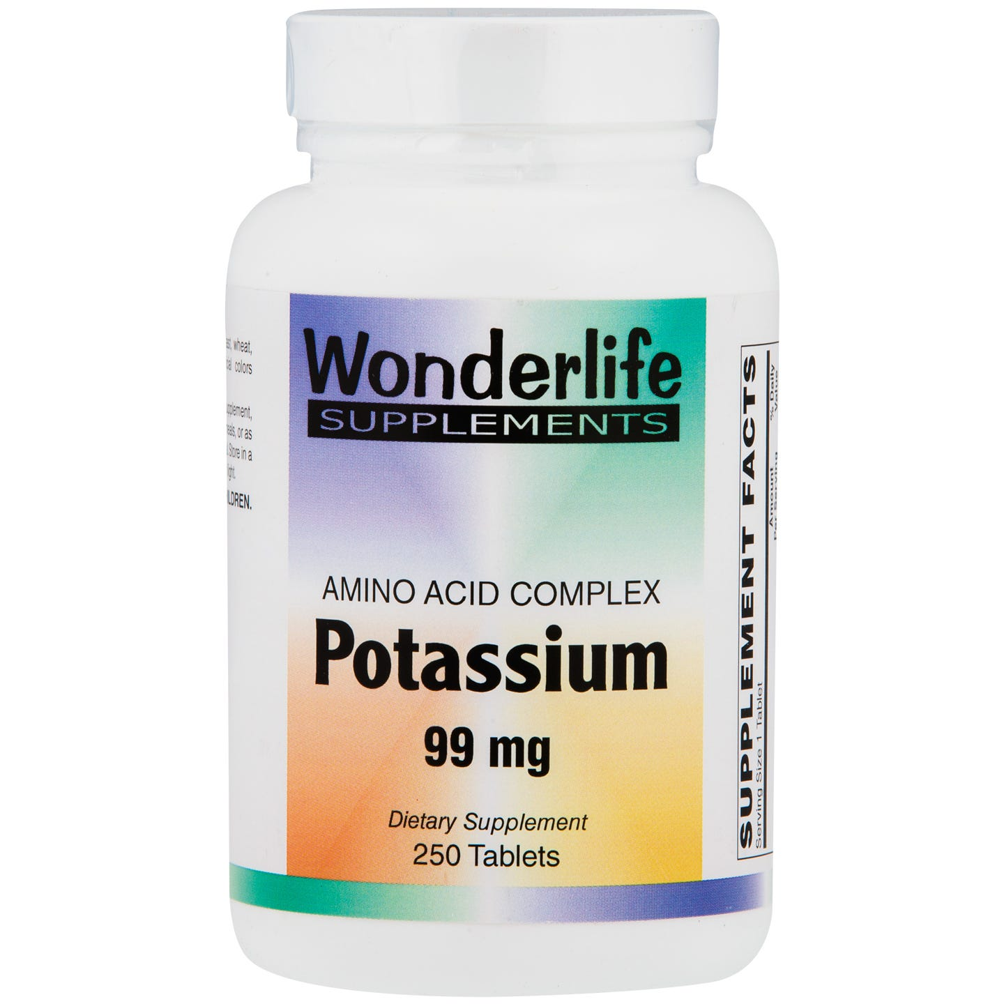 Potassium Tablets, 99 mg (250 ct), Wonderlife - Rapid Diet Weight Loss Products Shop