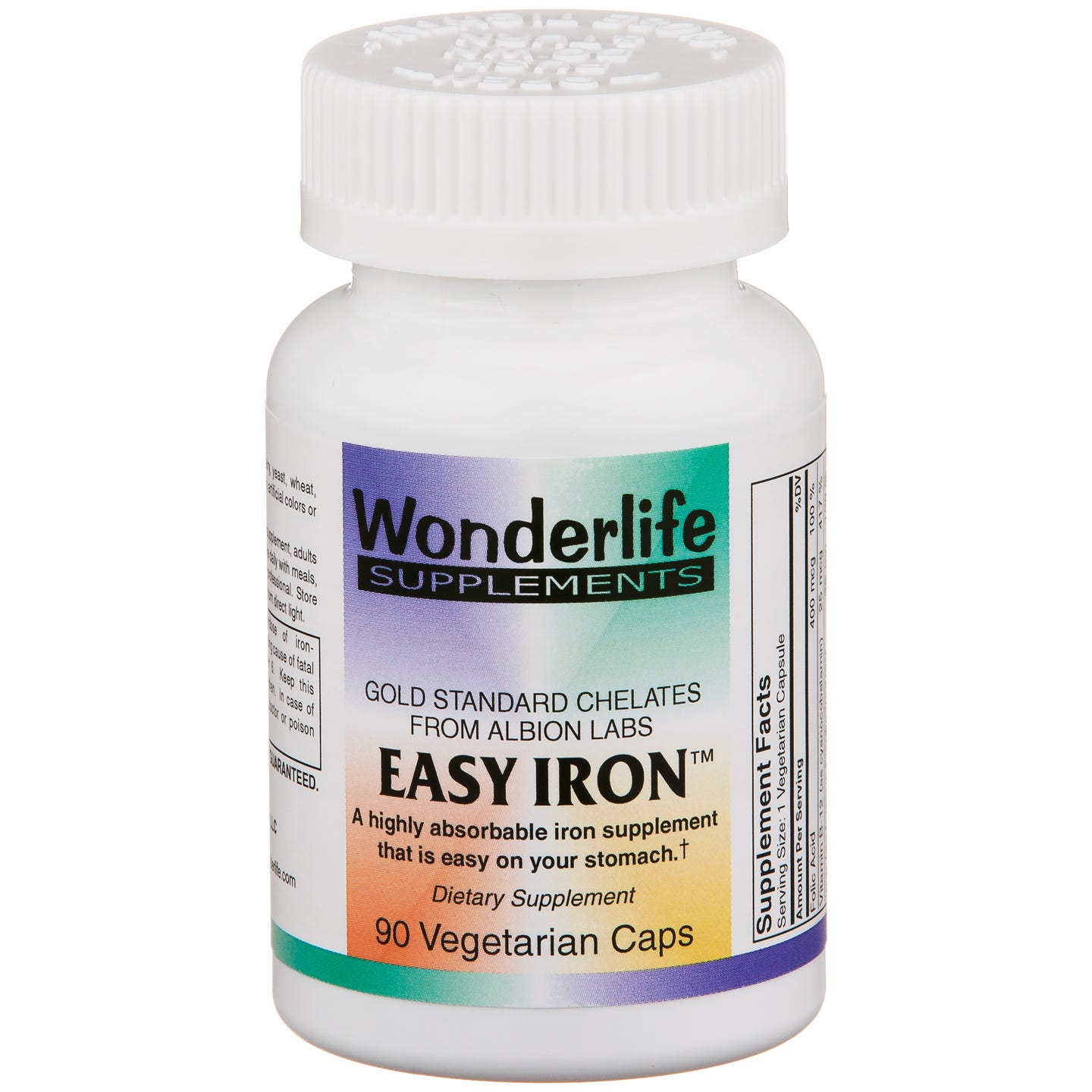 Easy Iron Gold Standard Chelates (90 ct) - Wonderlife - Rapid Diet Weight Loss Products Shop