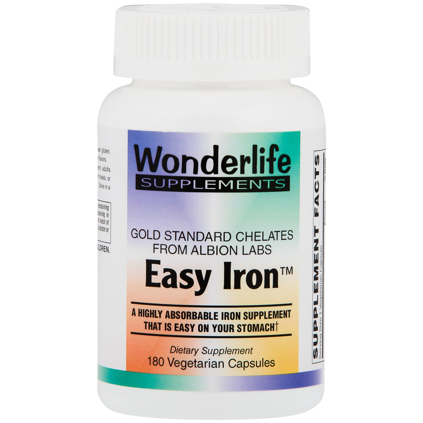 Easy Iron Vcaps, 25 mg  (180 ct), Wonderlife - Rapid Diet Weight Loss Products Shop