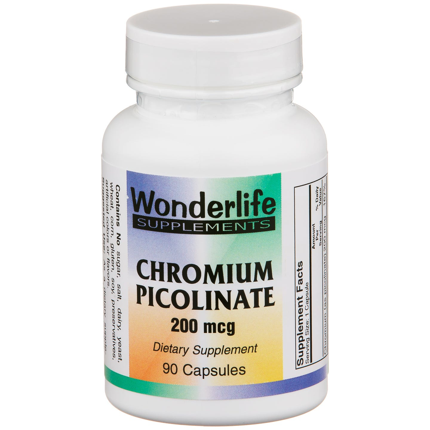 Chromium Picolinate 200 mcg (90 ct) - Wonderlife - Rapid Diet Weight Loss Products Shop