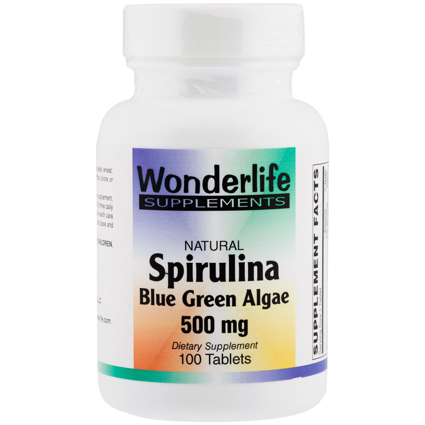Spirulina Blue Green Algae, 500 mg (100 Tablets), Wonderlife - Rapid Diet Weight Loss Products Shop