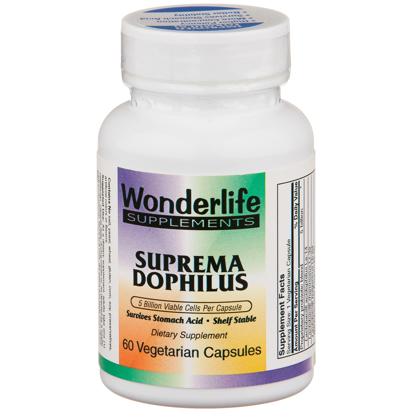 Suprema Dophilus Probiotic Formula (60 ct) - Wonderlife - Rapid Diet Weight Loss Products Shop