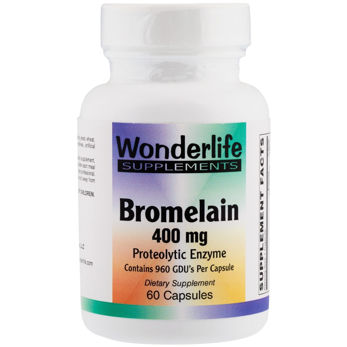 Bromelain Proteolytic Enzyme (60 Capsules), Wonderlife - Rapid Diet Weight Loss Products Shop