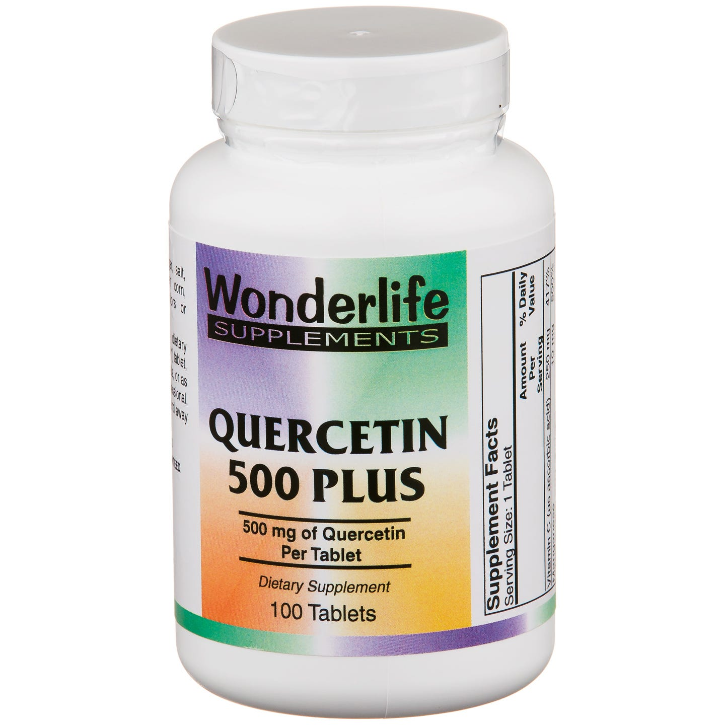 Quercetin 500 mg Plus (100 ct) - Wonderlife - Rapid Diet Weight Loss Products Shop