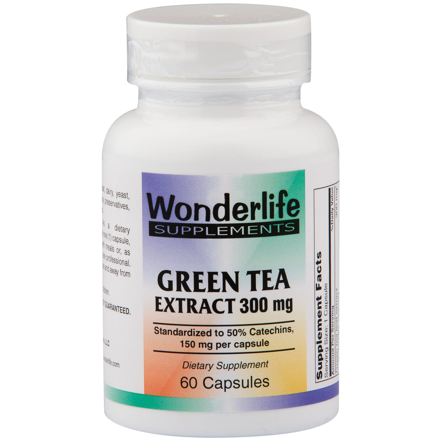Green Tea Extract 300mg (60 ct) - Wonderlife - Rapid Diet Weight Loss Products Shop