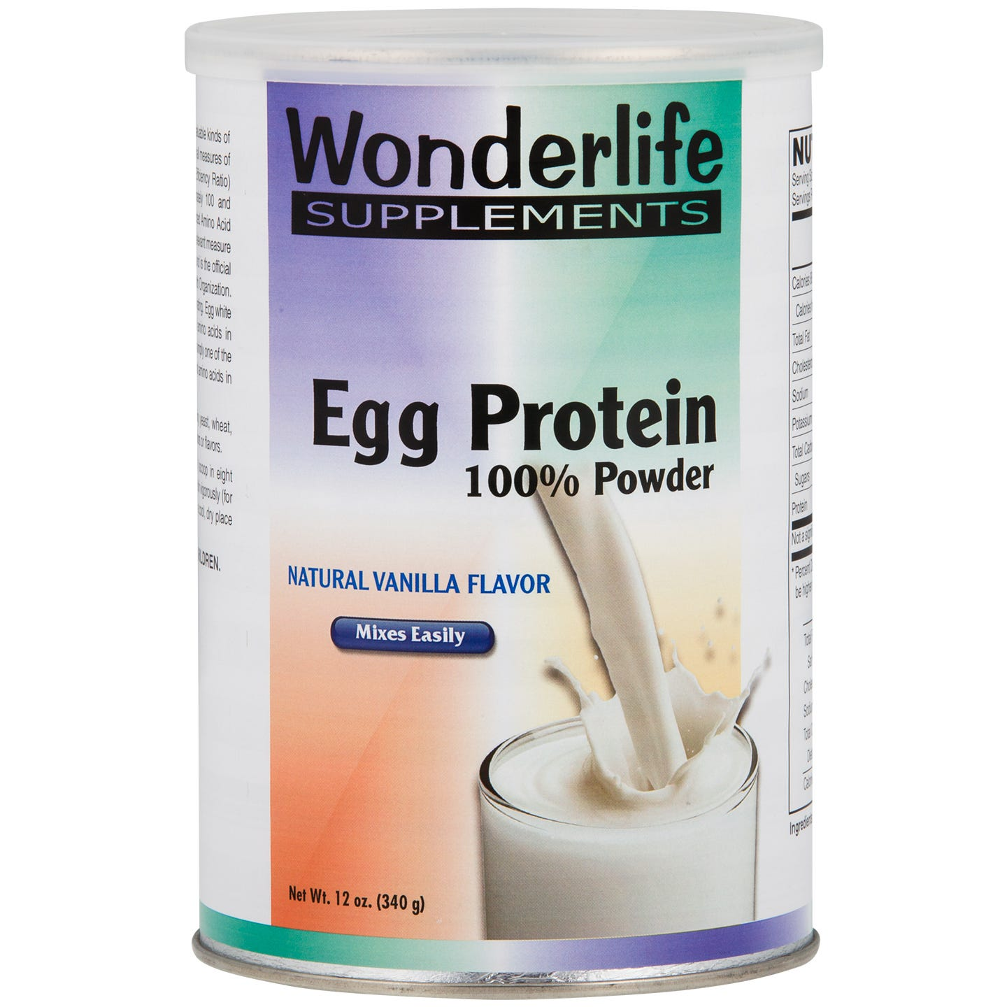 Egg Protein Powder Vanilla 12 oz, Wonderlife - Rapid Diet Weight Loss Products Shop