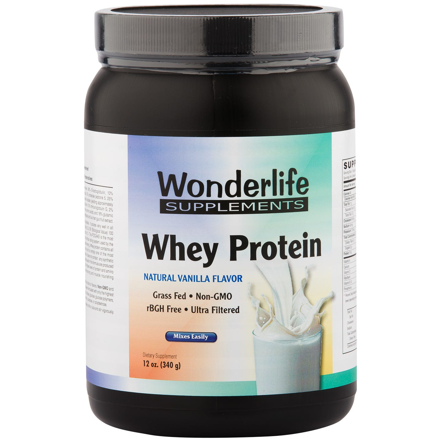 Whey Protein Micro-Filtered & Hydrolyzed Vanilla 12 oz, Wonderlife - Rapid Diet Weight Loss Products Shop