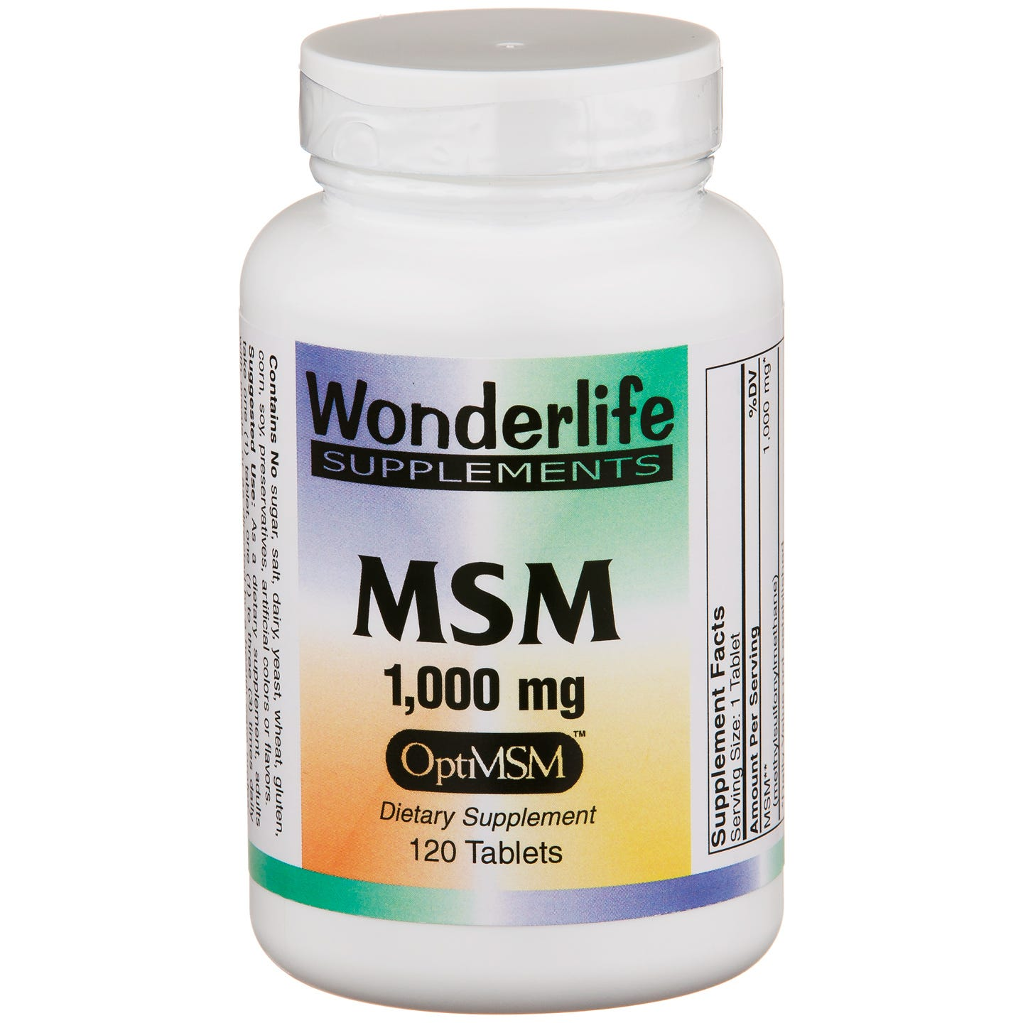 MSM 1000 mg with OptiMSM (120 ct) - Wonderlife - Rapid Diet Weight Loss Products Shop
