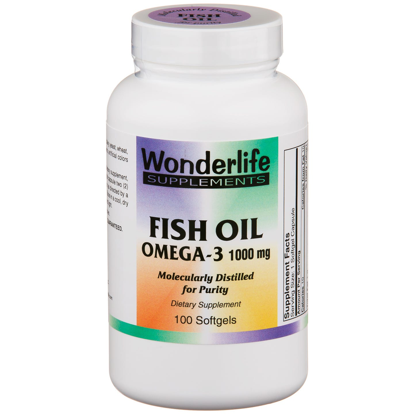Fish Oil Omega-3 1000 mg (100 ct) - Wonderlife - Rapid Diet Weight Loss Products Shop