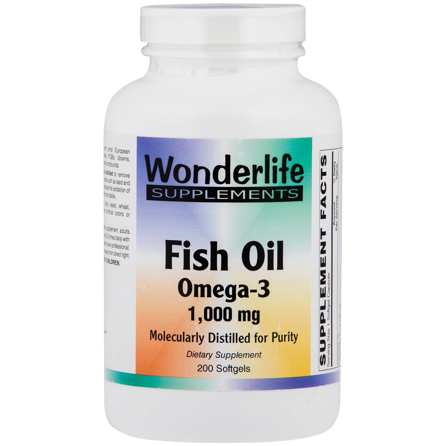 Fish Oil Omega-3 Softgels, 1000 mg (200 ct) , Wonderlife - Rapid Diet Weight Loss Products Shop