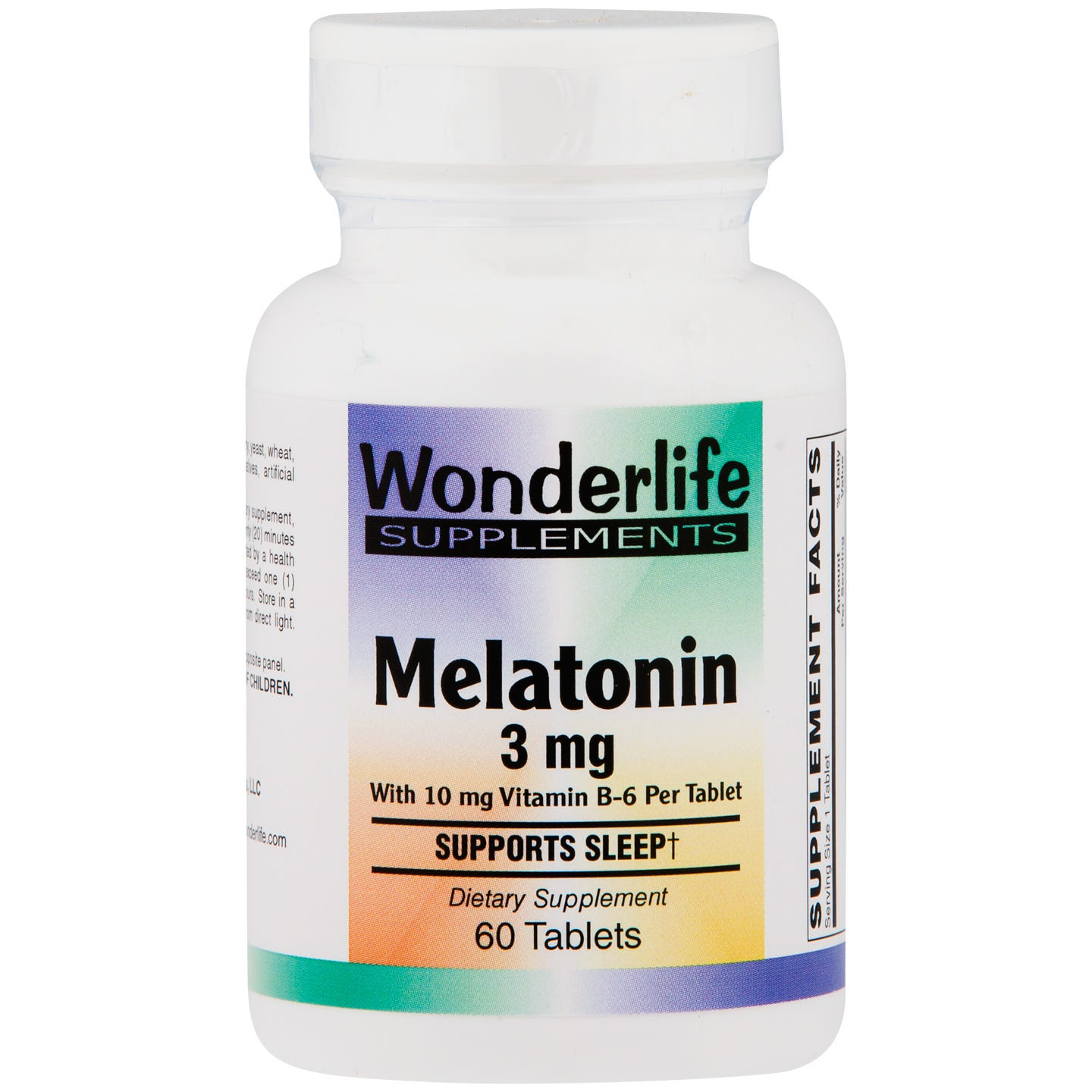Melatonin 3 mg with B6 (60 ct) - Wonderlife - Rapid Diet Weight Loss Products Shop