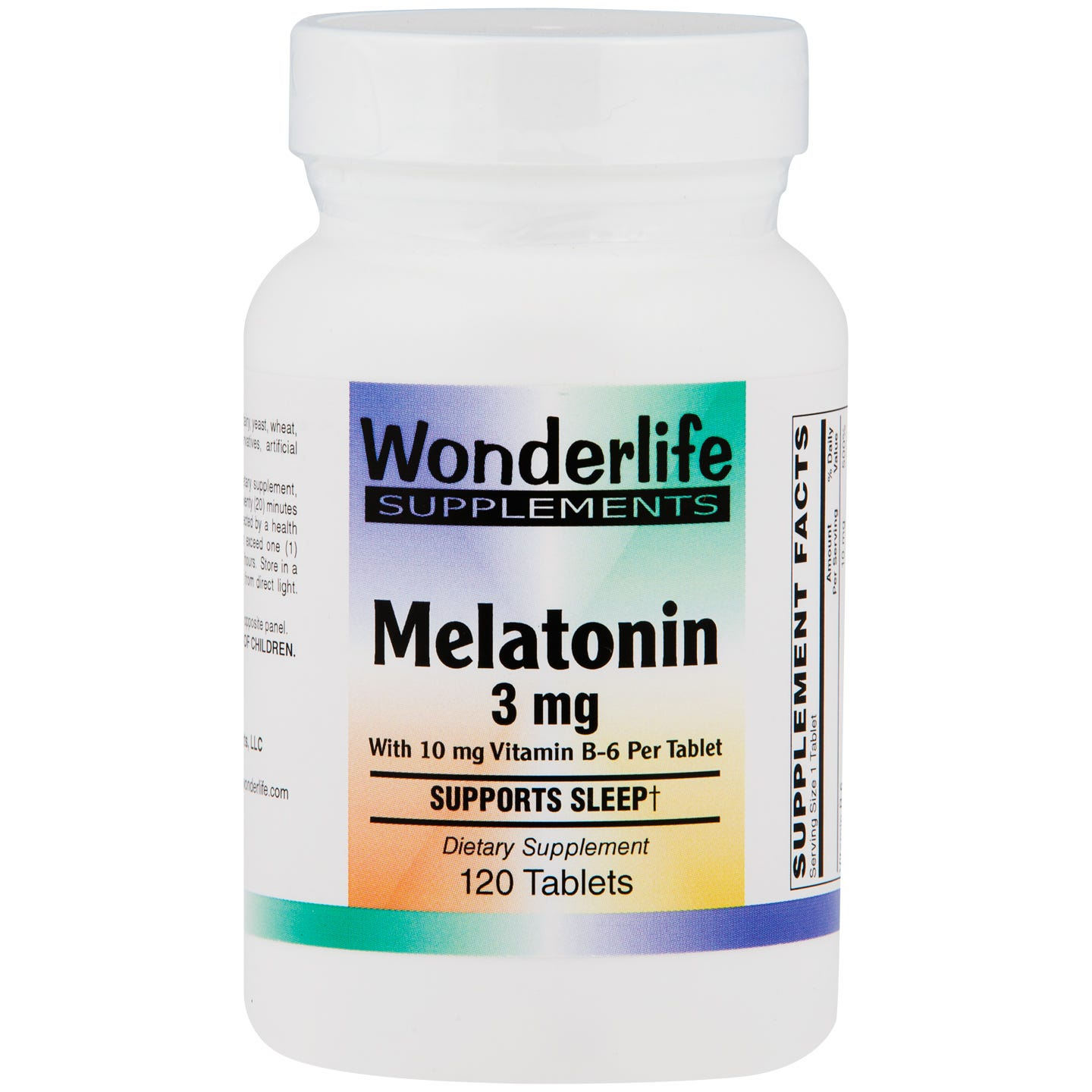 Melatonin 3 mg with B6 (120 ct) - Wonderlife - Rapid Diet Weight Loss Products Shop
