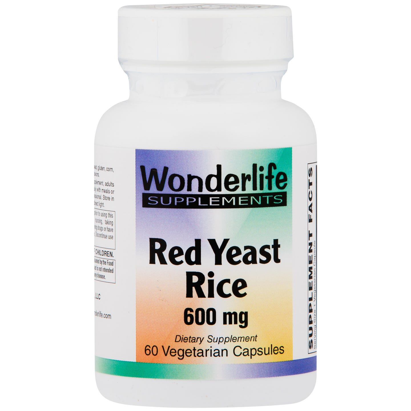 Organic Red Yeast Rice 600mg (60 ct) - Wonderlife - Rapid Diet Weight Loss Products Shop