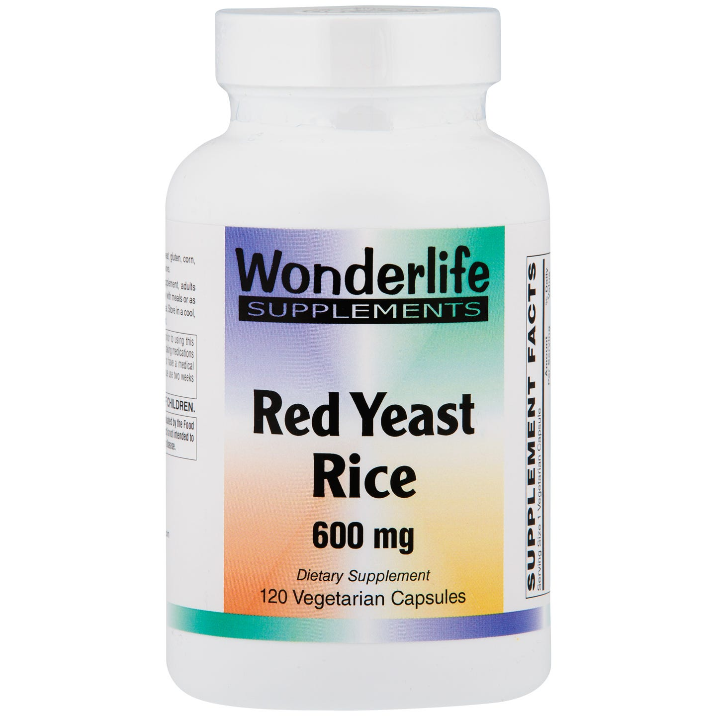 Organic Red Yeast Rice 600mg (120 ct) - Wonderlife - Rapid Diet Weight Loss Products Shop