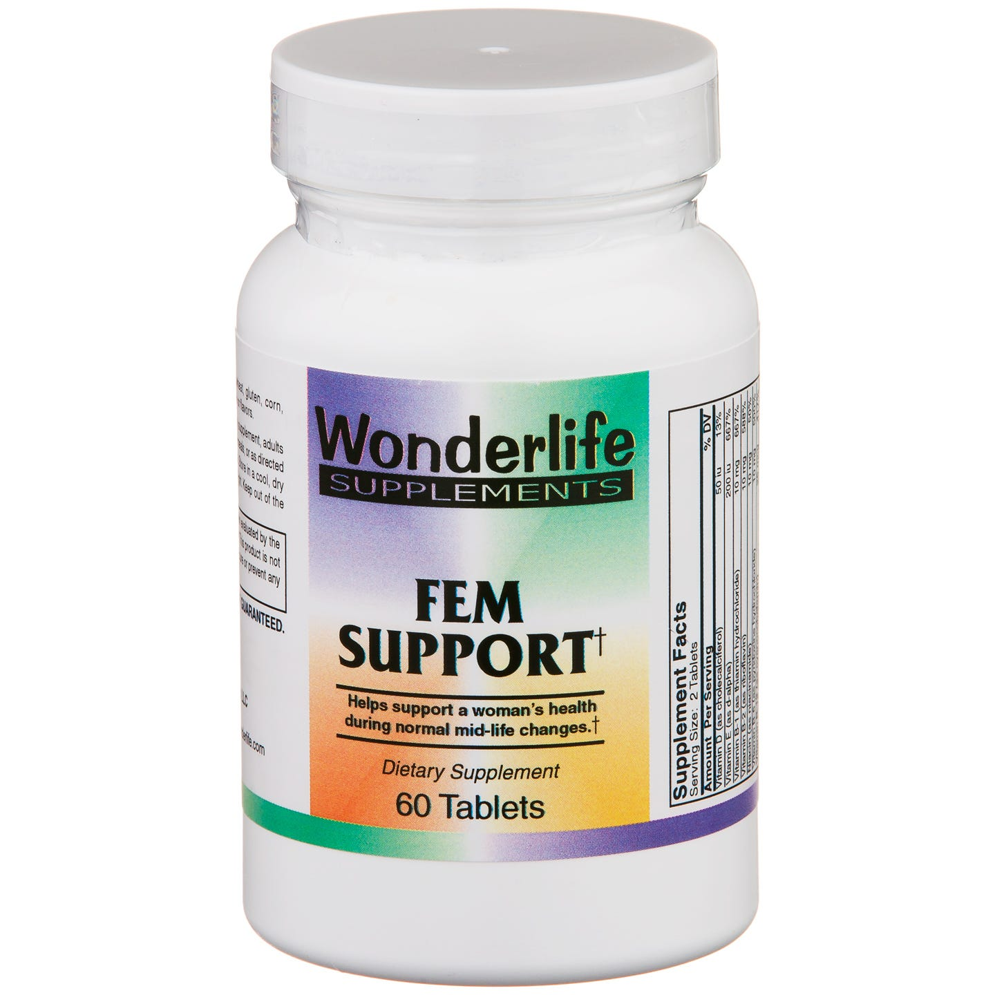 Fem Support (60 ct) - Wonderlife - Rapid Diet Weight Loss Products Shop