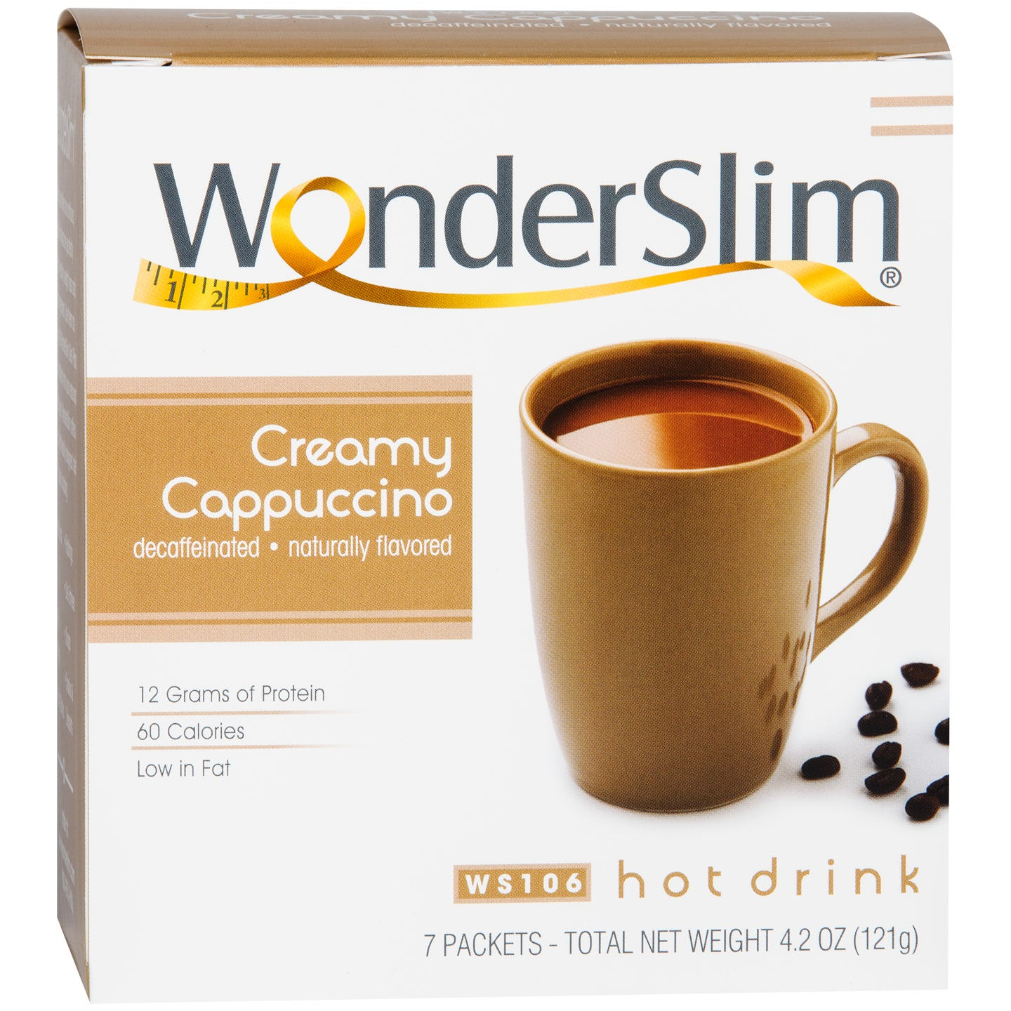 WonderSlim Protein Diet Hot Drink Cappuccino (7 ct) - Rapid Diet Weight Loss Products Shop