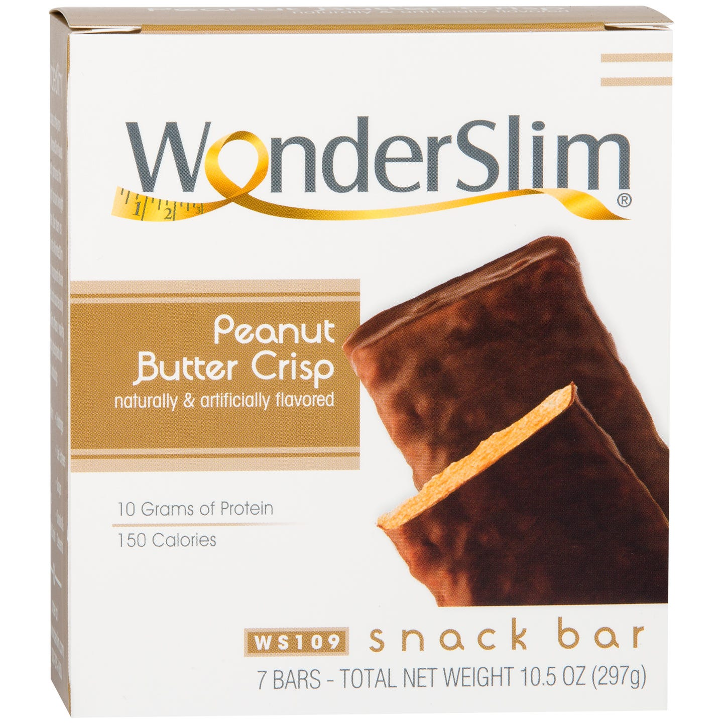 WonderSlim Protein Snack Bar Peanut Butter Crisp (7 ct)