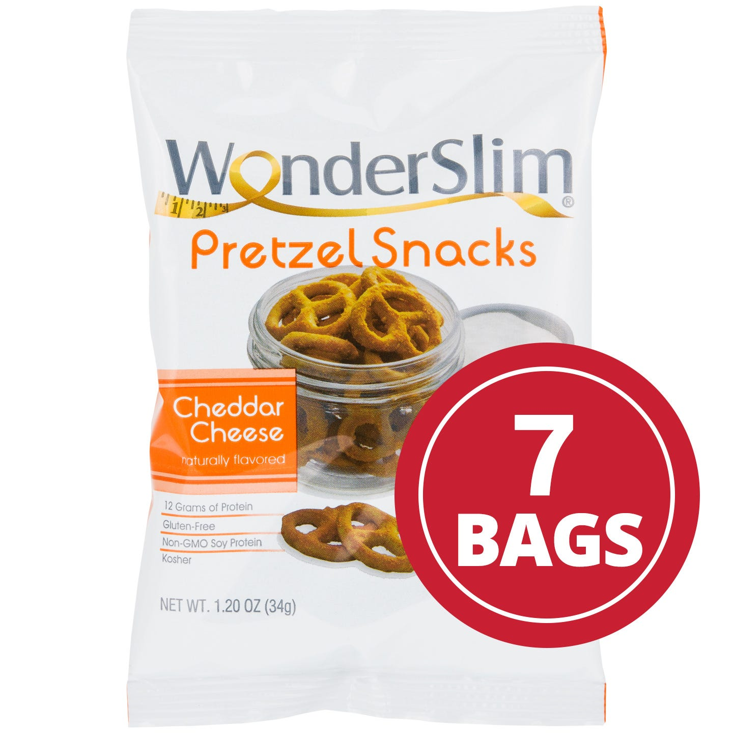 WonderSlim Cheddar Cheese Protein Pretzel Snacks (7 Ct)