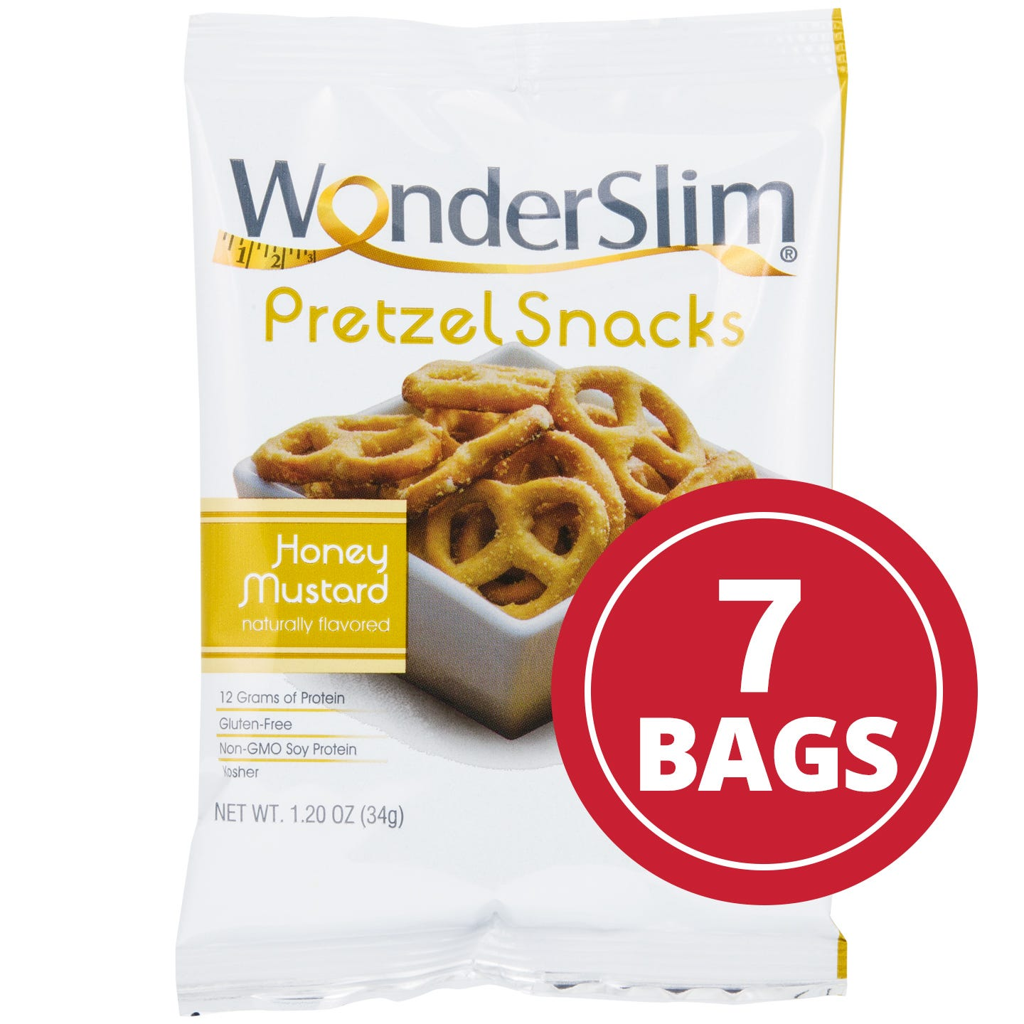 WonderSlim Honey Mustard Protein Pretzel Snacks (7 Ct)