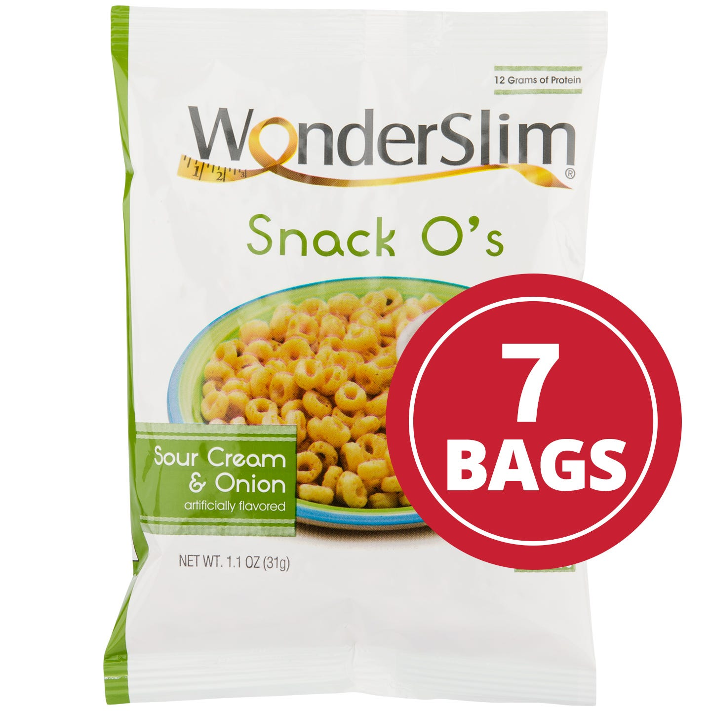 WonderSlim Snack Os Sour Cream and Onion (7 Ct)