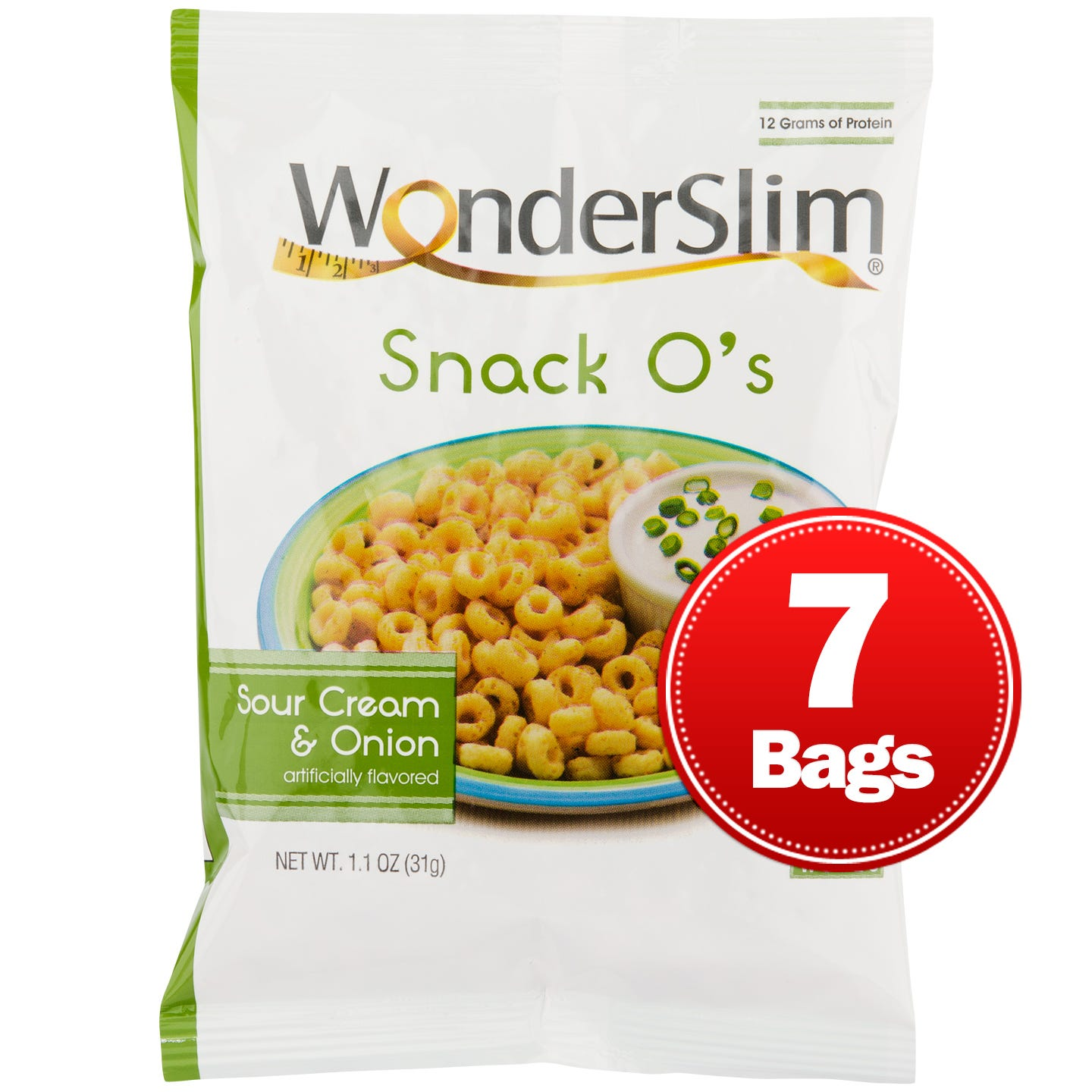 WonderSlim Snack Os Sour Cream & Onion (7 ct)