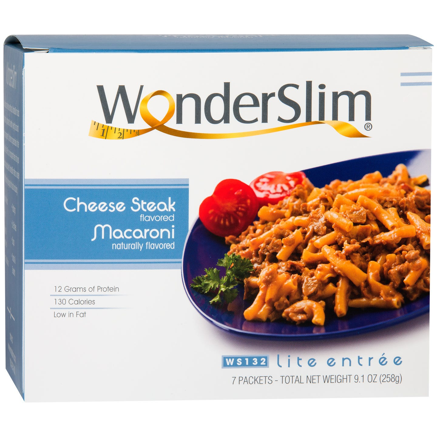 WonderSlim Cheese Steak Macaroni Lite Entree (7 ct) - Rapid Diet Weight Loss Products Shop