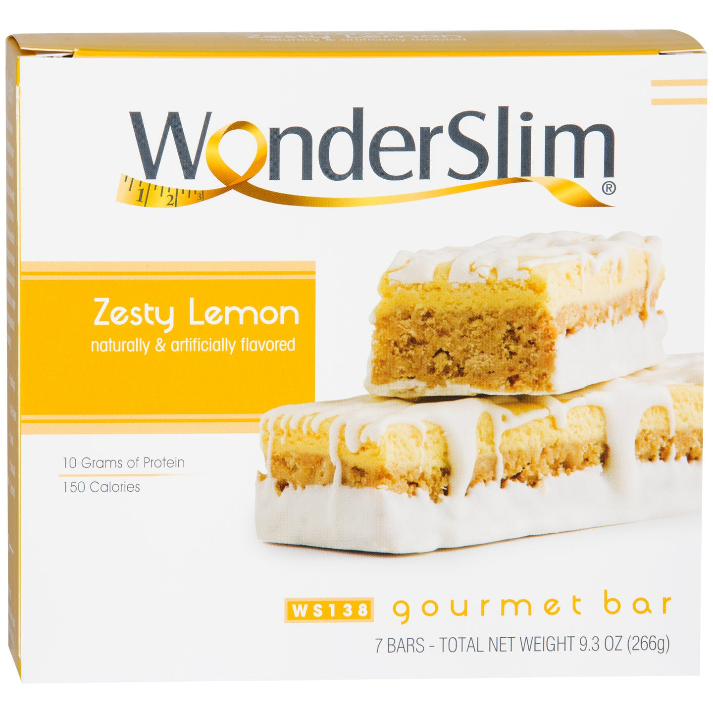 WonderSlim Gourmet Protein Bar Zesty Lemon (7 ct) - Rapid Diet Weight Loss Products Shop