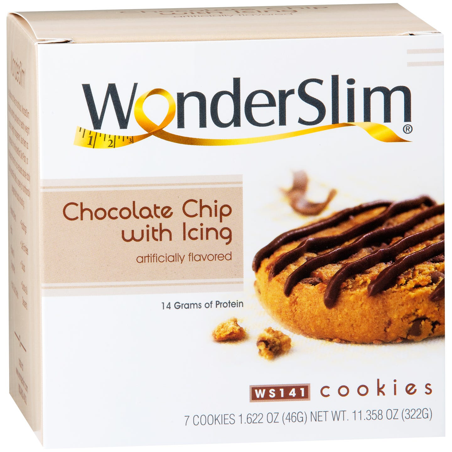 WonderSlim Protein Diet Cookie Chocolate Chip with Icing (7 ct) - Rapid Diet Weight Loss Products Shop