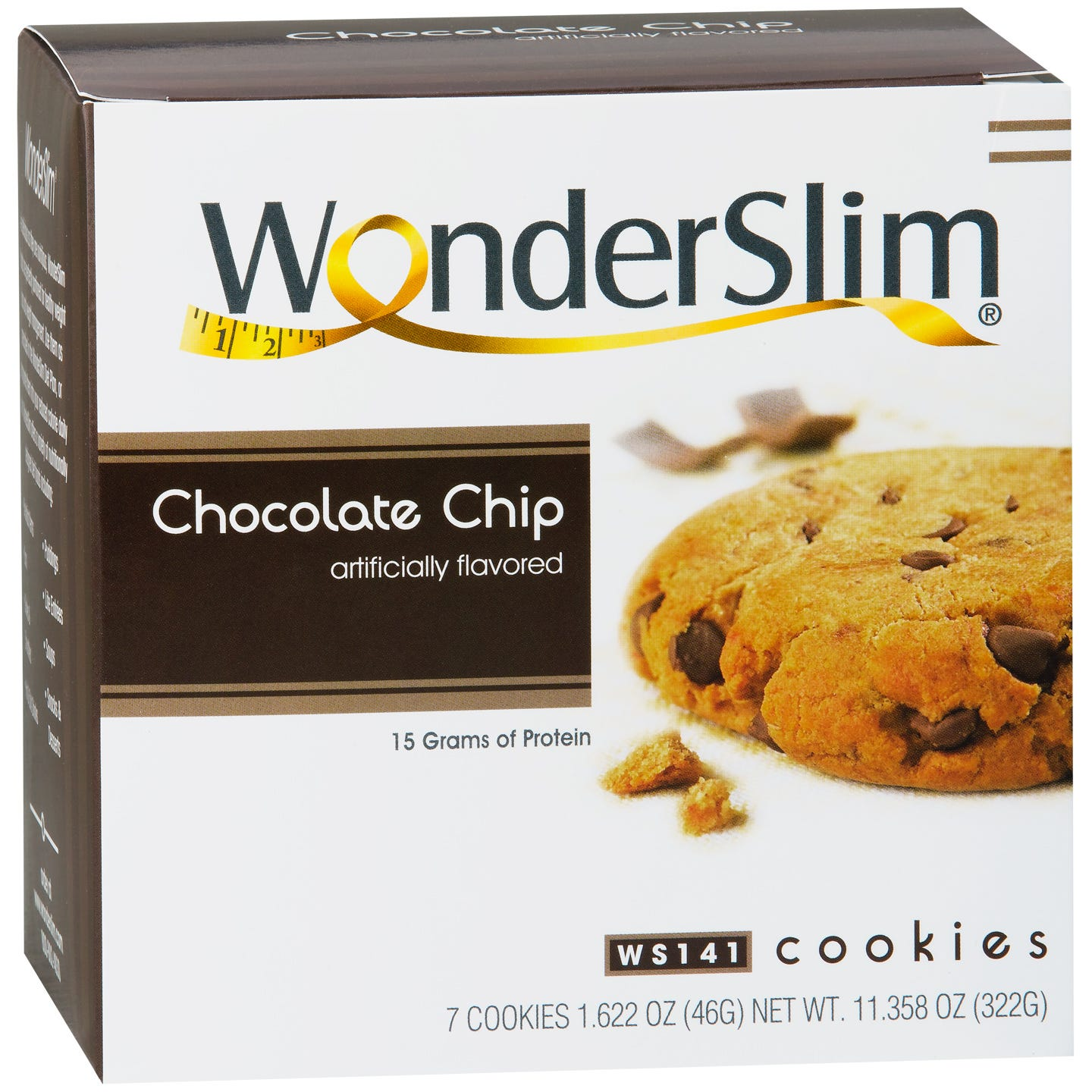 WonderSlim Protein Diet Cookie Chocolate Chip (7 ct) - Rapid Diet Weight Loss Products Shop