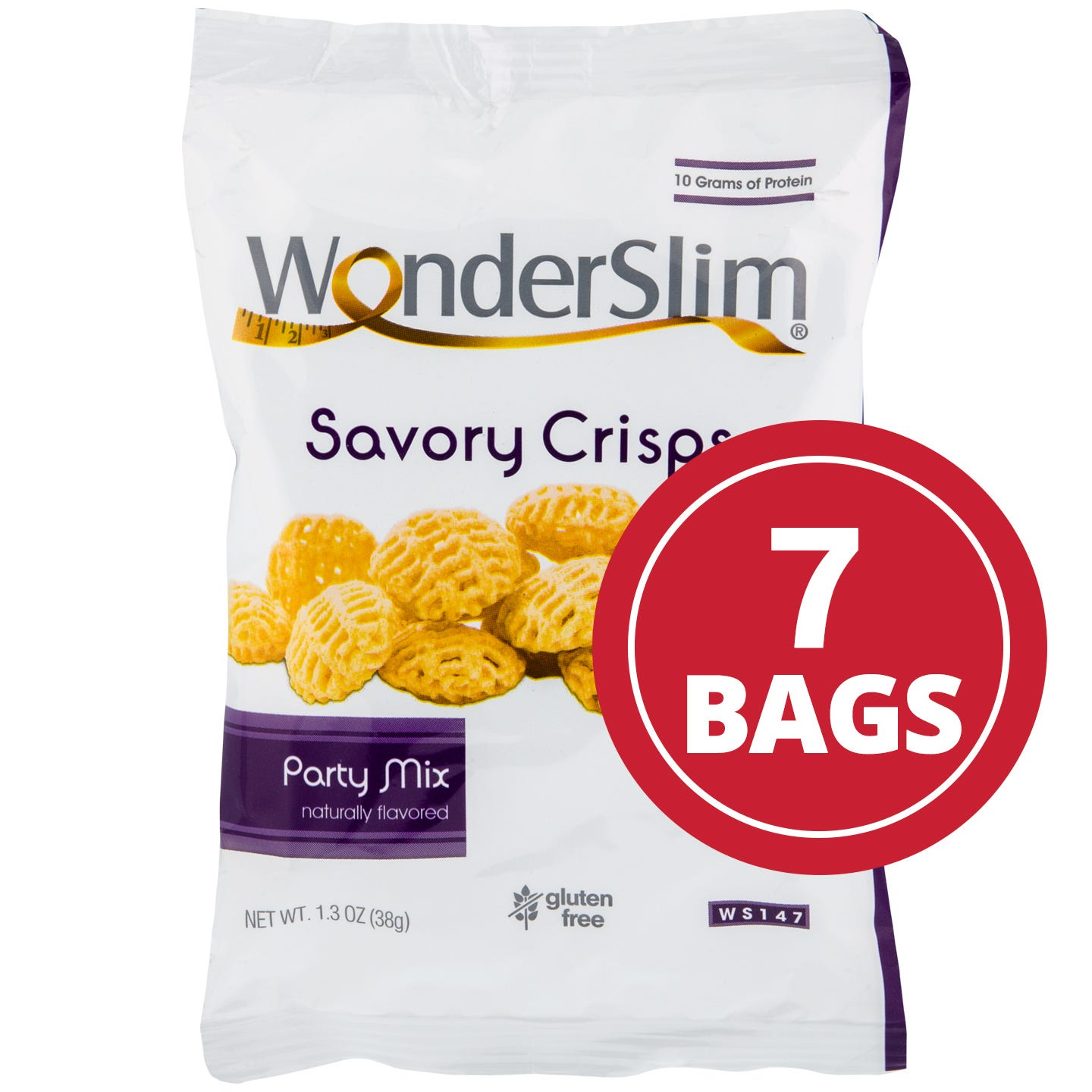 WonderSlim Savory Crisps  Party Mix (7 Pk)