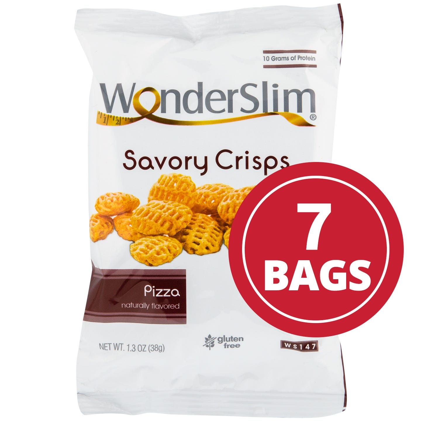WonderSlim Savory Crisps  Pizza (7 Pk)