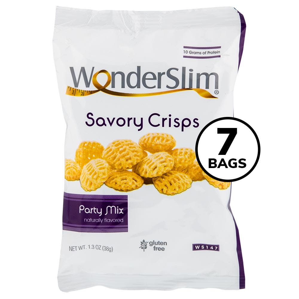 WonderSlim Savory Crisps, Party Mix (7ct)