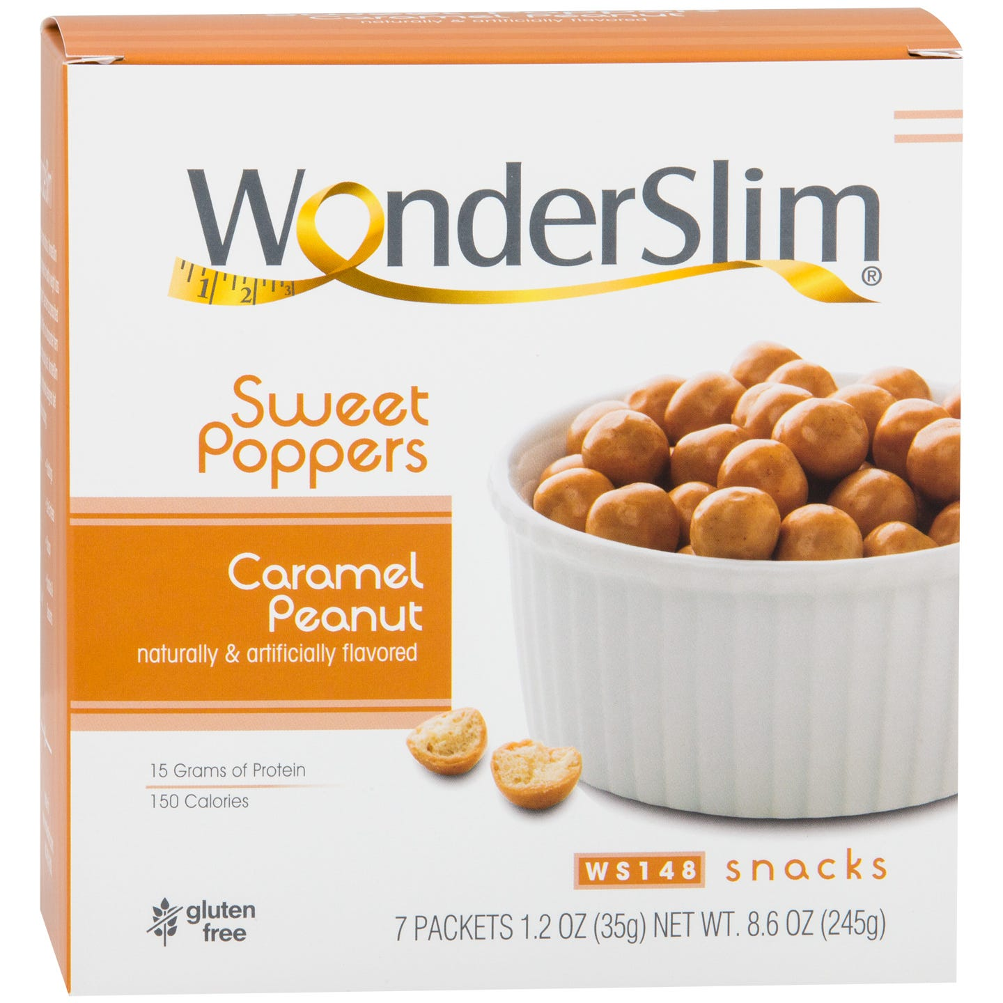 WonderSlim Sweet Poppers  Caramel Peanut (7ct)