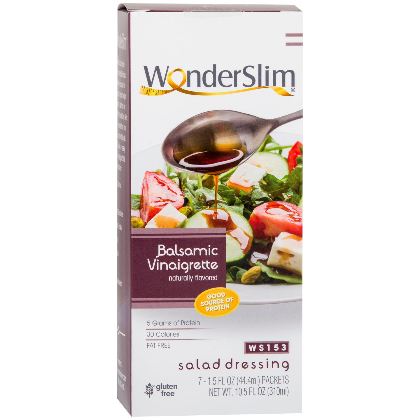 WonderSlim Low Calorie  Fat-Free Protein Salad Dressing - Balsamic Vinaigrette (7 Servings)