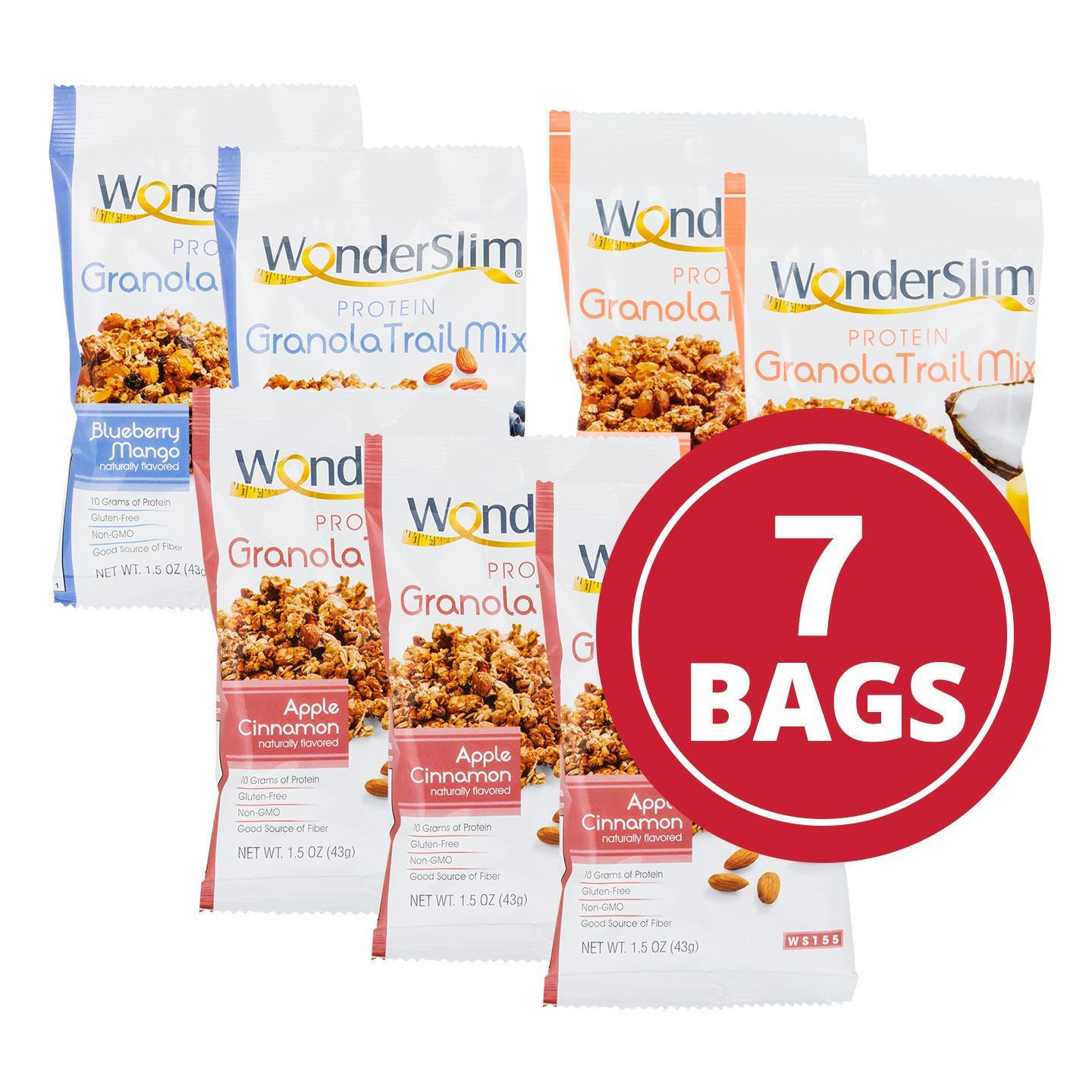 WonderSlim® High Protein Granola Trail Mix  Variety Pack - 1.5 Oz (7pk)