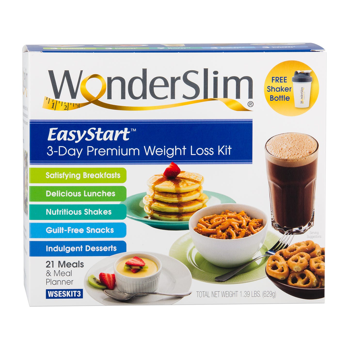 EasyStart™ Premium 3-Day Diet/Weight Loss Kit from WonderSlim - Rapid Diet Weight Loss Products Shop