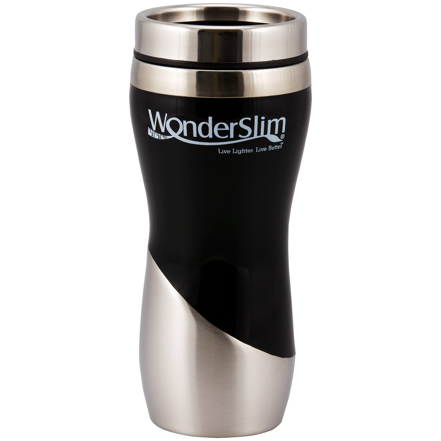 WonderSlim Travel Mug, 16oz - Black