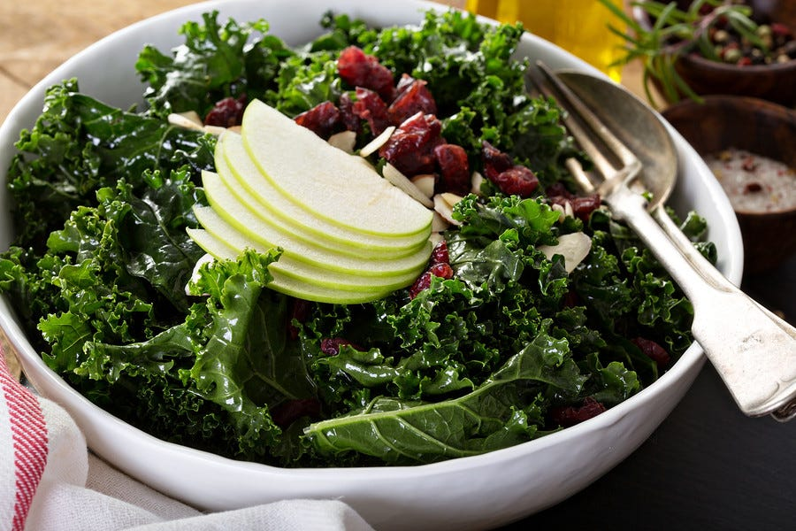 Healthy Recipes: Baby Kale with Apples